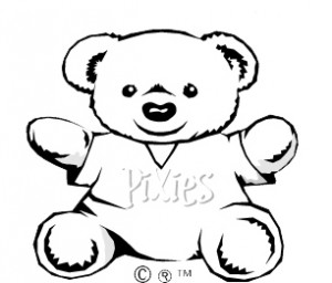 pixie bear colouring page